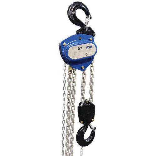 Polipasto manual con cadena - Capacidad de 7500kg a 20000kg