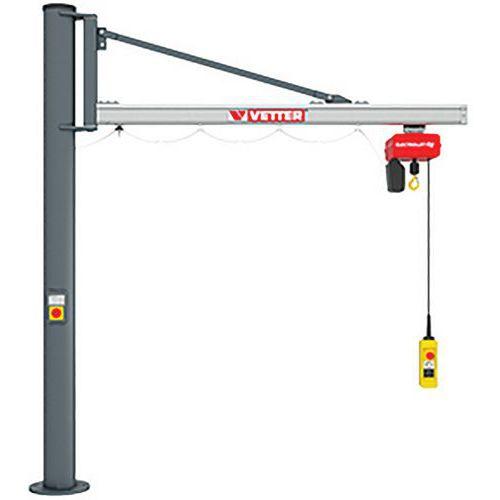 Grúa sobre columna carga ligera - Capacidad de 80 a 500 kg - Vetter