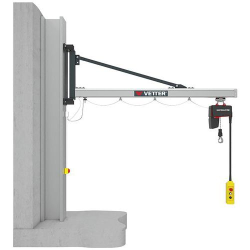 Grúa mural carga ligera - Capacidad de 80 a 500 kg - Vetter