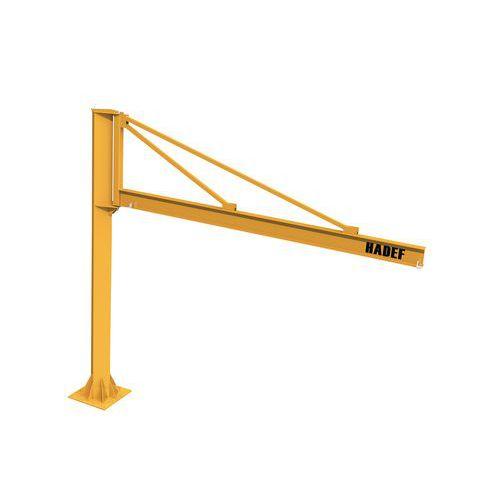 Grúa triangular sobre columna - Capacidad de 250 a 1000kg - HADEF
