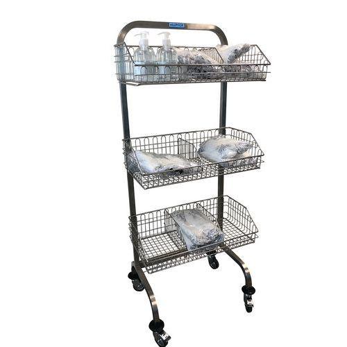 Carro médico de acero inoxidable con cestas - Sin separador