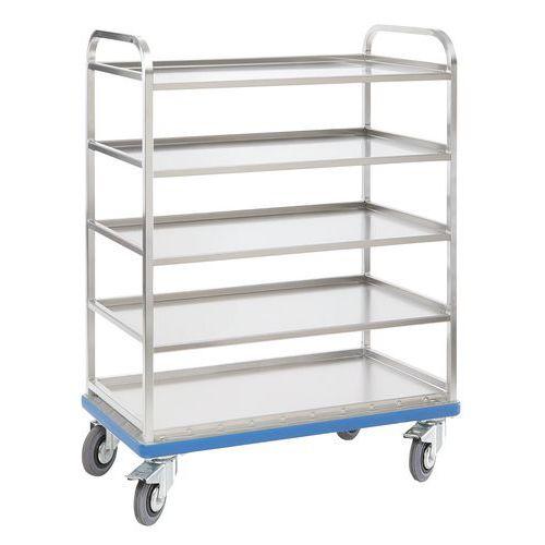 Carro de aluminio con baldas para cajas G ORG - Gmohling