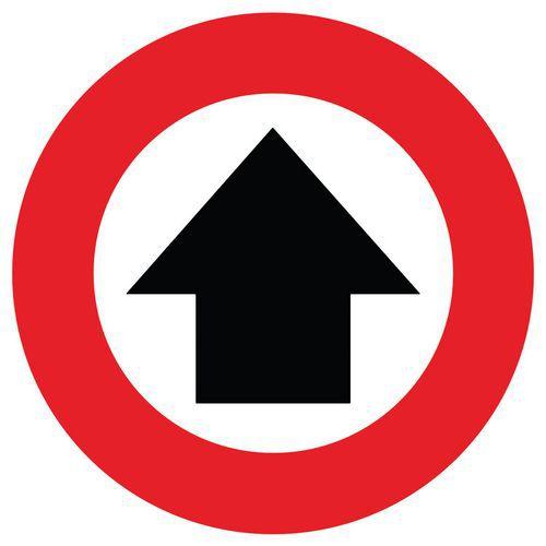 Marcas de distanciamiento social para el suelo - Flecha de dirección