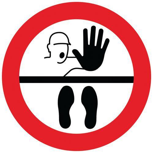Marcas de distanciamiento social para el suelo - Stop