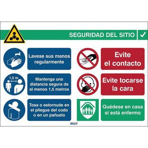 Panel COVID-19 Normas de seguridad