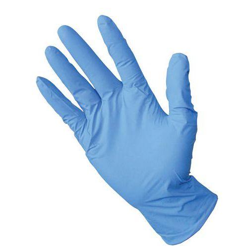 Guantes de protección desechables de nitrilo