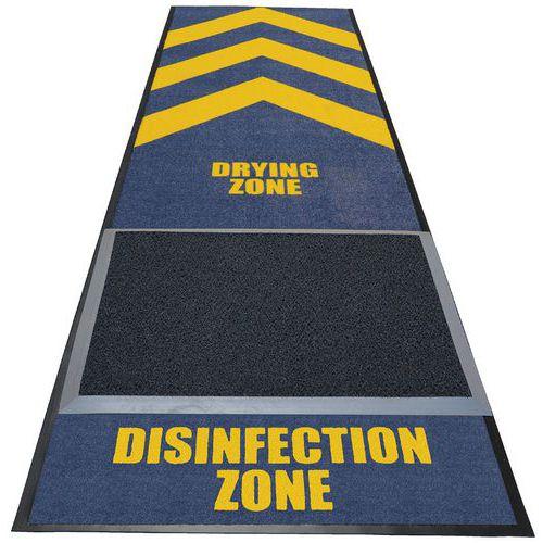 Alfombra desinfectante con zona de secado - Notrax
