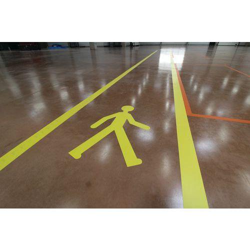 Adhesivo PVC de marcado en suelo - 5 muñecos amarillos - Gergosign