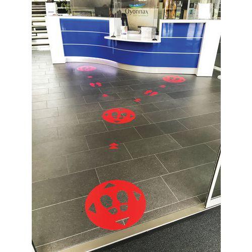 Adhesivo para marcar el suelo con distancia social - Pies - Gergosign