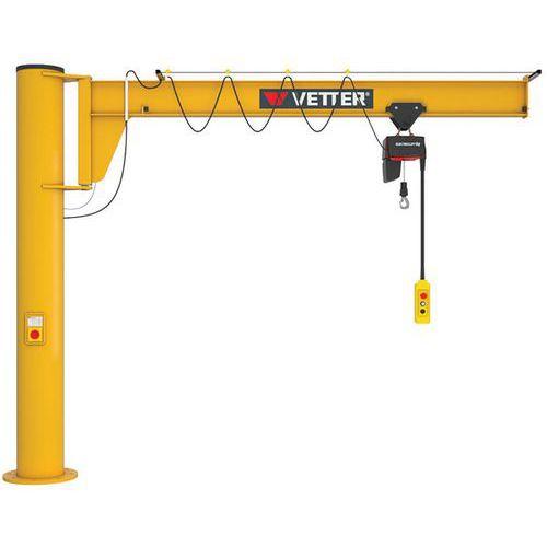 Grúa sobreelevada sobre columna con kit de fijación - Capacidad de 250 a 2000 kg - Vetter